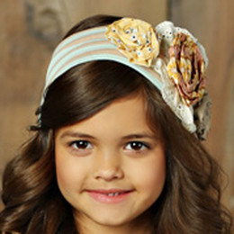 Mustard Pie Sweet Pea Flora Headband - Blue