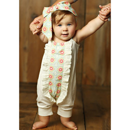 Mustard Pie  Sweet Pea Stella 2pc Romper & Headband Set (**Now up to size 4T**)