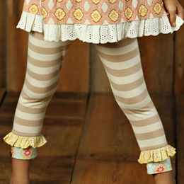 Mustard Pie Sweet Pea Griffin Legging - Beige