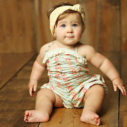 Mustard Pie  Sweet Pea Riley Romper (**Now up to size 4T**)