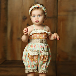 Mustard Pie Sweet Pea Anastasia Romper (**Now up to size 4T**)