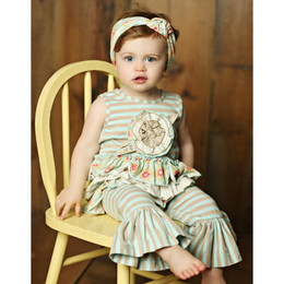 Mustard Pie  Sweet Pea Emma Romper (**Now up to size 4T**)