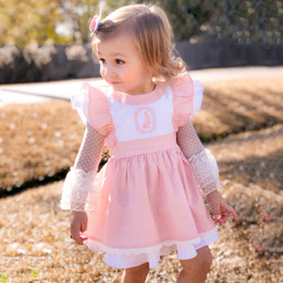Evie's Closet Bunny Pinafore Dress