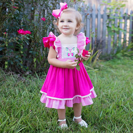 Evie's Closet Butterfly Pinafore Dress