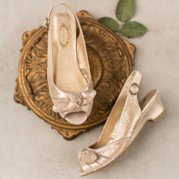 Joyfolie Claire Heeled Shoe - Gold