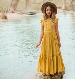 Joyfolie Viola Dress - Mustard