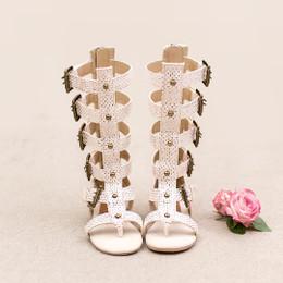 Joyfolie Jayla Gladiator Sandals - Metallic