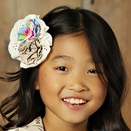 Mustard Pie Apple Blossom Ella Hair Clip - Blue
