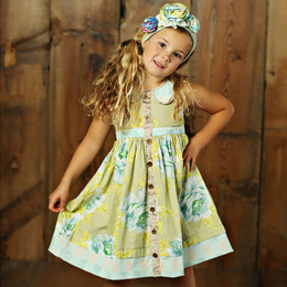 Mustard Pie Apple Blossom Greta Dress