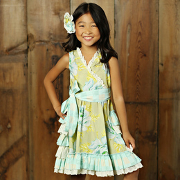 Mustard Pie Apple Blossom Enchanted Dress