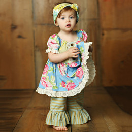 Mustard Pie Apple Blossom Baby Lola 2pc Set (**Now up to size 6X**)
