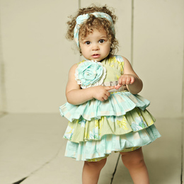 Mustard Pie Apple Blossom Jubilee Romper (**Now up to size 4T**)
