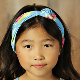 Mustard Pie Apple Blossom Gidget Headwrap - Blue
