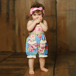 Mustard Pie  Apple Blossom Anastasia Romper (**Now up to size 4T**)