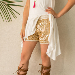 Joyfolie Angelica Shorts - Gold