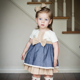 Evie's Closet  Pintuck Dress w/Bow