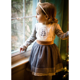 Evie's Closet Embroidered Joy To The World Dress