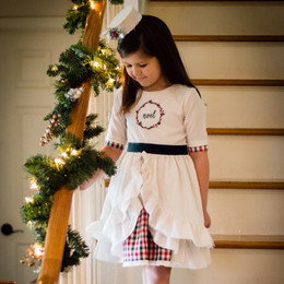 Evie's Closet Embroidered Noel 2pc Dress Set