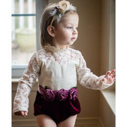Evie's Closet Velvet & Lace Romper