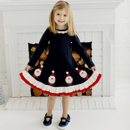 Lemon Loves Lime Holiday Santa Workshop Dress