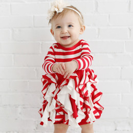 Lemon Loves Lime Holiday 2pc Lil Candy Cane Twirl Dress & Bloomer Set