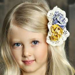 Mustard Pie English Blue Ella Hairclip - English Blue