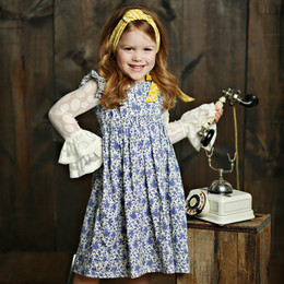 Mustard Pie English Blue Gabby Dress - English Blue (*New Style!*) (*Top Sold Separately*)
