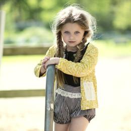Mustard Pie English Blue Beckett Bloomer with Suspender - Black Stripe (*New Style!*)