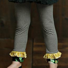 Mustard Pie English Blue Griffin Legging - Black Stripe