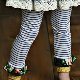 Mustard Pie English Blue Griffin Legging - Blue Stripe
