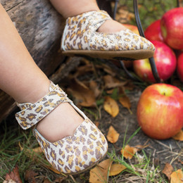 Livie & Luca Astrid Baby Shoes - Leopard Shimmer (Fall 2018)