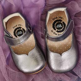 Livie & Luca Astrid Baby Shoes - Pewter Metallic (Fall 2018)