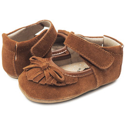 Livie & Luca Willow Baby Shoes - Camel Suede (Fall 2018) (*New Style*)