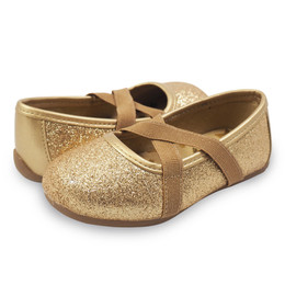 Livie & Luca Aurora Shoes - Gold Sparkle (Fall 2018)