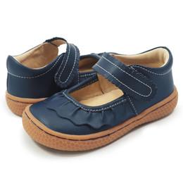 Livie & Luca Ruche Shoes - Navy Blue (Fall 2018)