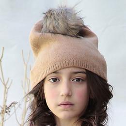 Blu Pony Vintage Pom Hat - Fawn
