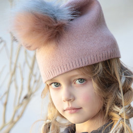 Blu Pony Vintage Pom Hat - Winter Pink