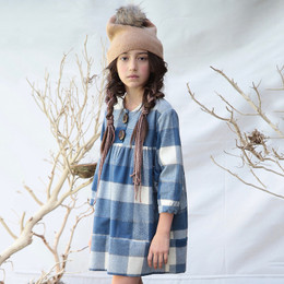 Blu Pony Vintage Hazel Dress - Bigger Blue Check