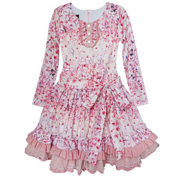 Isobella & Chloe Pink Peony Dress - Mauve
