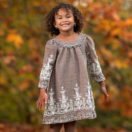 Isobella & Chloe Gracie A-line Dress - Taupe