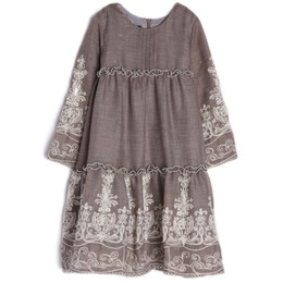 Isobella & Chloe Gracie Tiered Dress - Taupe