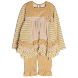 Isobella & Chloe Goldilocks 2pc Set - Yellow