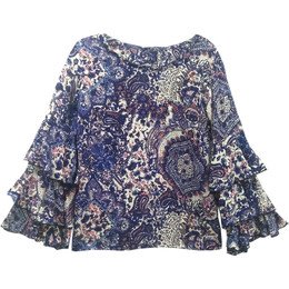 Joyous & Free Big Sky Gigi Top - Sky