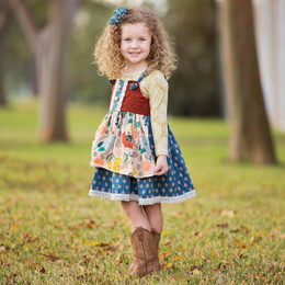 Haute Baby Harvest Time 2pc Jumper Dress Set