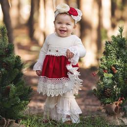 Haute Baby Tis The Season Long-Sleeved Dress
