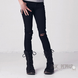 Jak & Peppar Peak-a-Boo Skinnies - Black
