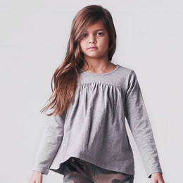 Jak & Peppar Mermaid Top - Heather Grey