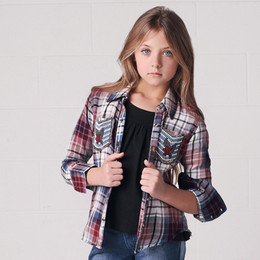 Jak & Peppar Wild Sky Button Don - Washed Plaid
