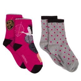 Catimini Graphic Floral All In The Air Socks - 2 pairs