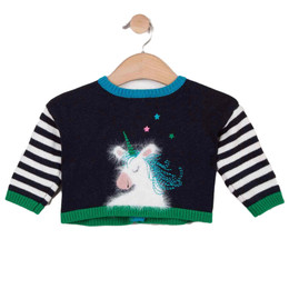 Catimini Creative Fantaisie Earth Light Unicorn Cardigan Sweater